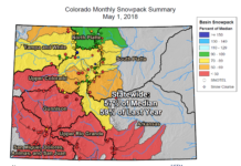 Colorado Monthly Snowpack Summary May 1, 2018