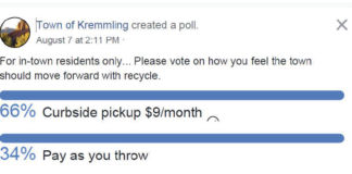 Those currently polled on the Town of Kremmling Facebook page are showing a preference for curbside pick-up .