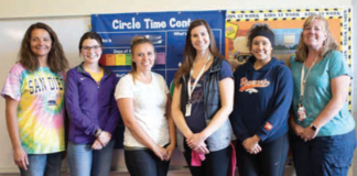 photo by Matt Veraldo Kremmling Preschool welcomes some new additions to its existing staff. (L to R) Kalonie Williams, Morgan Jones, Sara Pryor, Kendra Holmes, Anael Castillo, and Preschool Director Michele DeSanti.