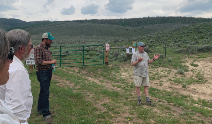 photo by Anna Drexler Dreis | Dan Notal gives an update on the Himebaugh Creek property in Hot Sulphur Springs.